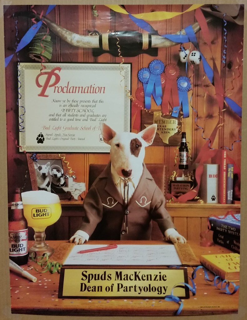 spuds mackenzie kam00889 budweiser bud light beer poste flickr