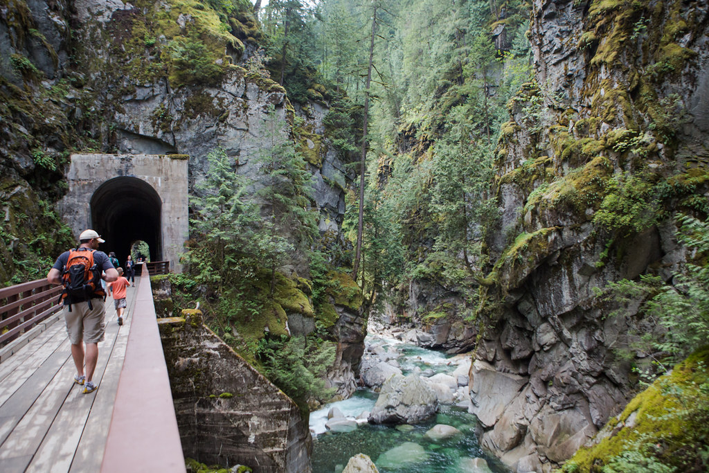 Othello tunnels are a great place to hike in Hope, BC