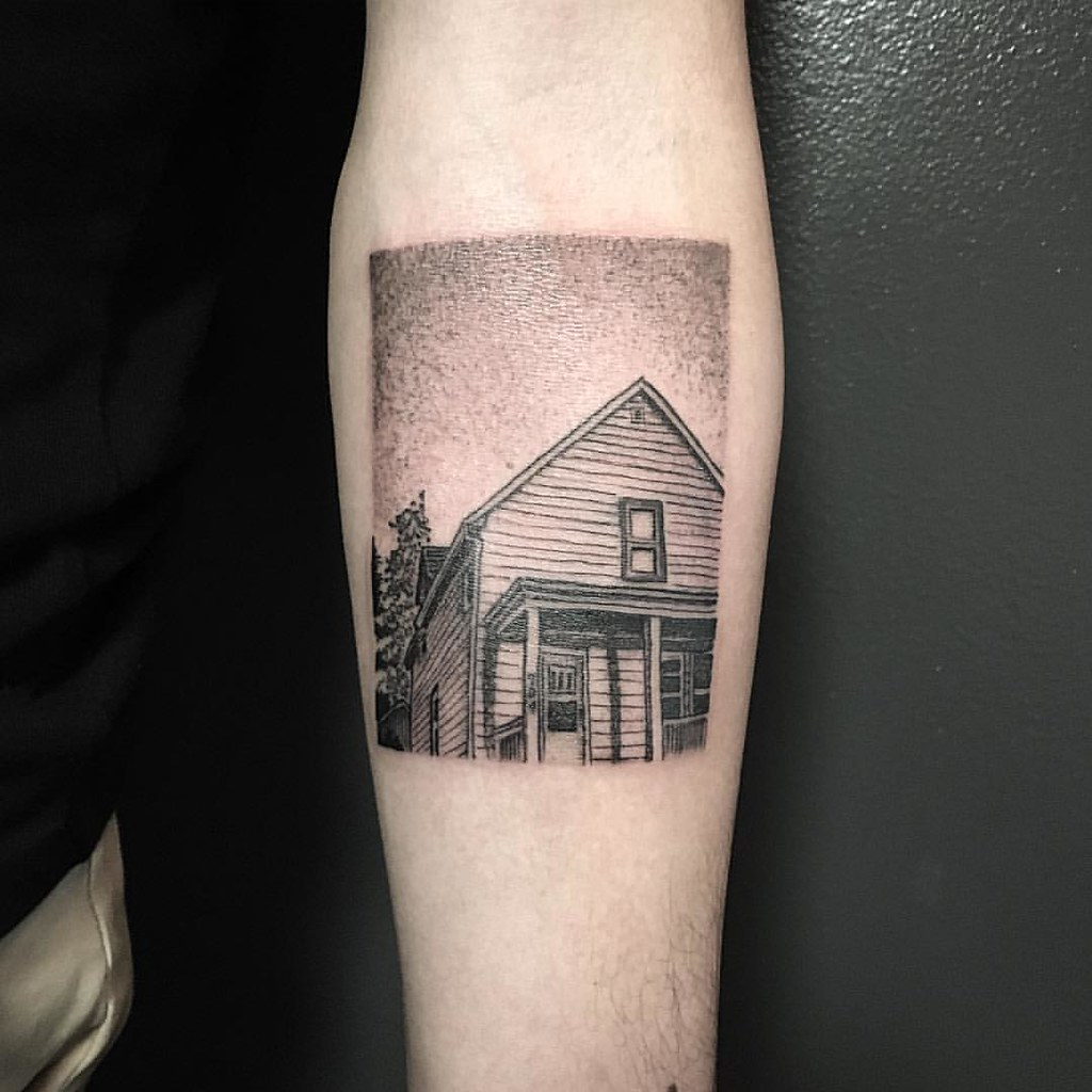 mini american football house for john 39 s first tattoo flickr. Black Bedroom Furniture Sets. Home Design Ideas