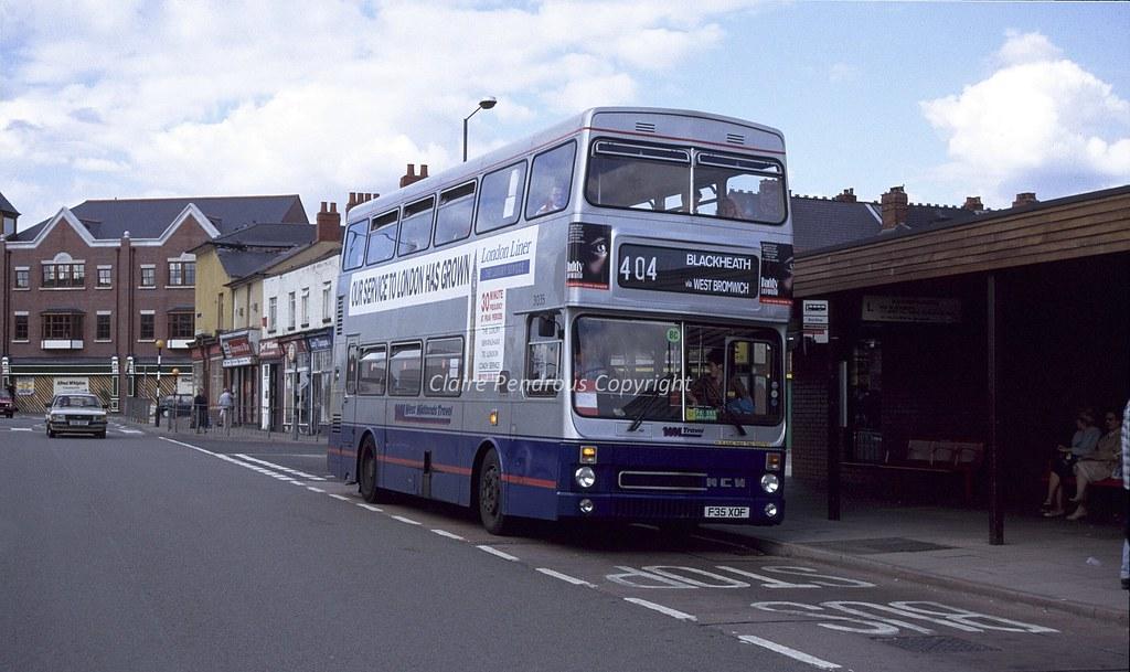 Wmt 3035 Oldbury Bus Station 1990 West Midlands Travel