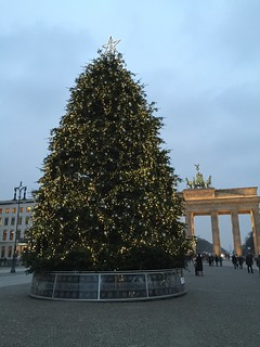 Brandenburger Tor met kerstboom