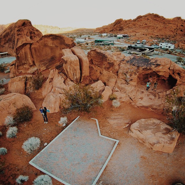 One of many awesome sites at this campground. We've reunited with @upintheairstream for some more caravanning. We'll briefly make our way into Utah before slicing down into southern Arizona in the coming weeks.