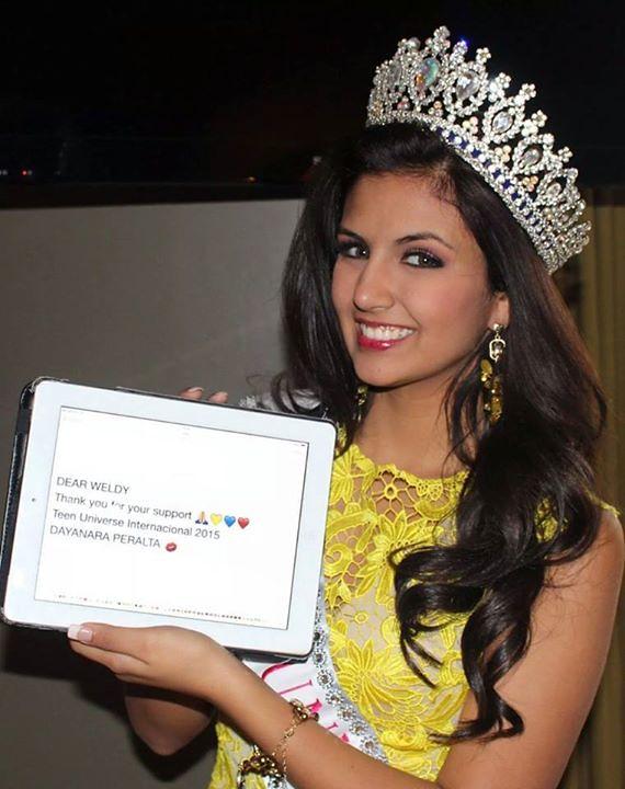 Dayanara Peralta Miss Teen Universe 2015 Dayanara
