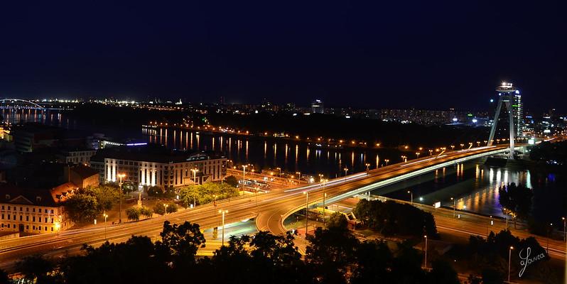Bratislava by night, Slovakia