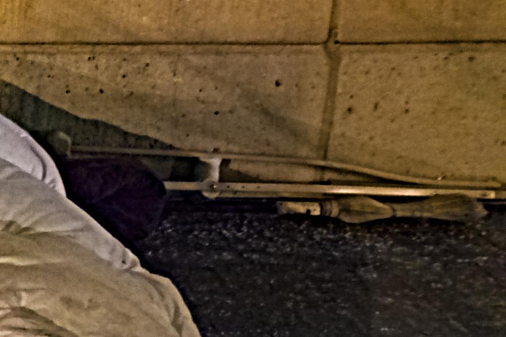 Sleeping person on L Street on 3-3-15--Washington (detail)