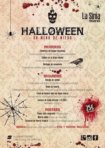 Halloween Restaurant La Sinia, menú 25€