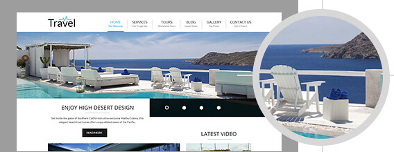 banner travel wordpress theme