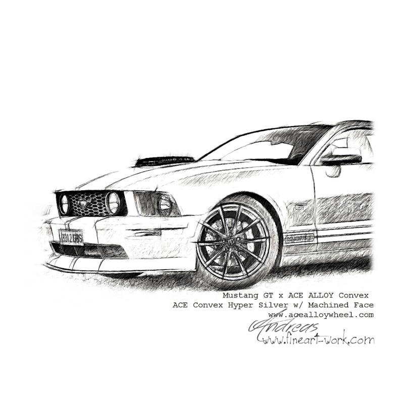 Mustang Gt X Ace Alloy Convex By Www Autozeichnungen Net Flickr