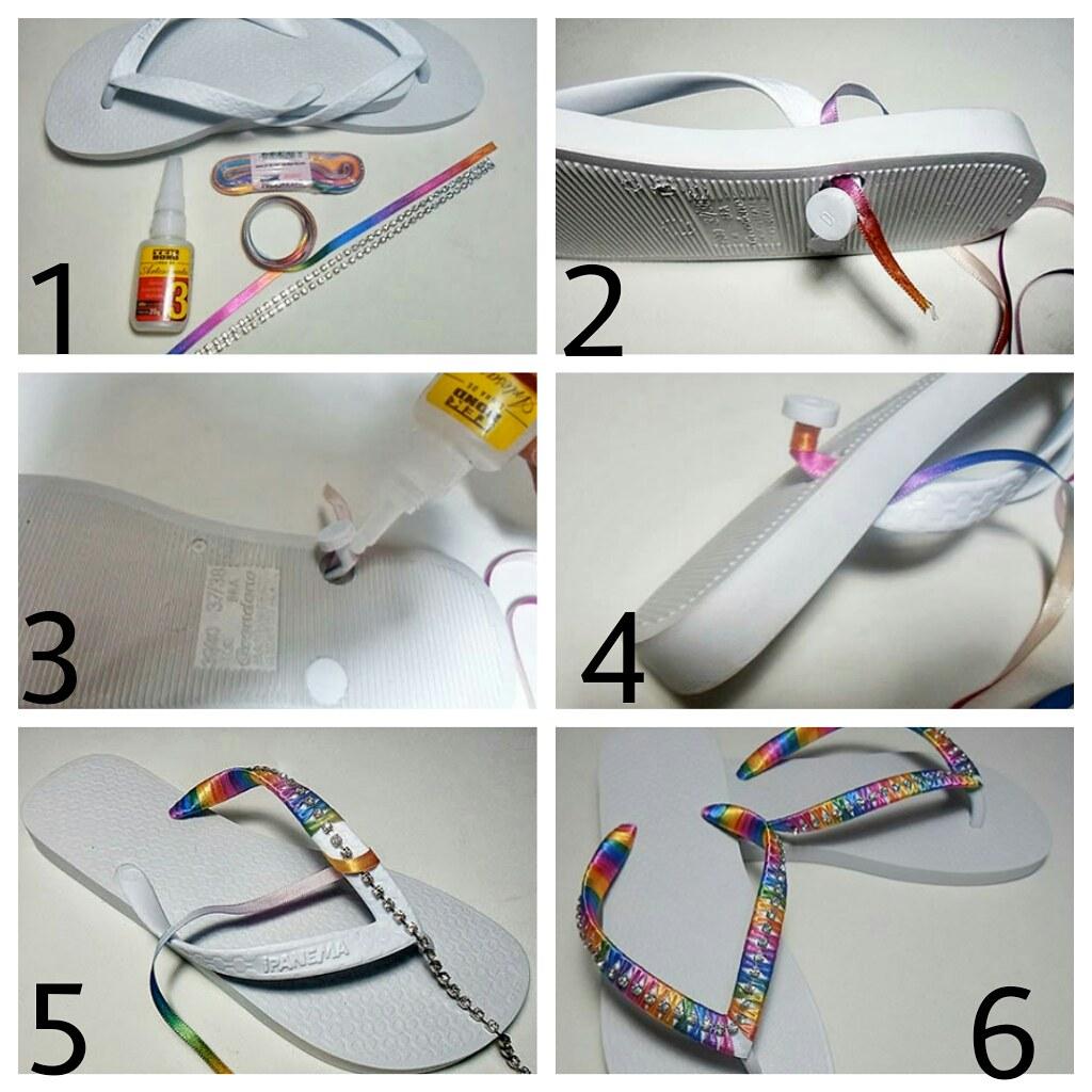 Preferência Aprenda a fazer chinelo decorado com strass e fitas de cet… | Flickr SL53