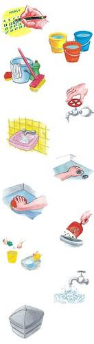 Instruções de limpeza da caixa d'água