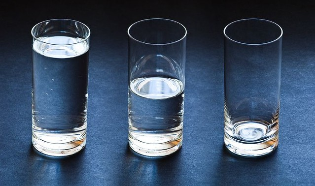 Lower Returns 3 glasses of water