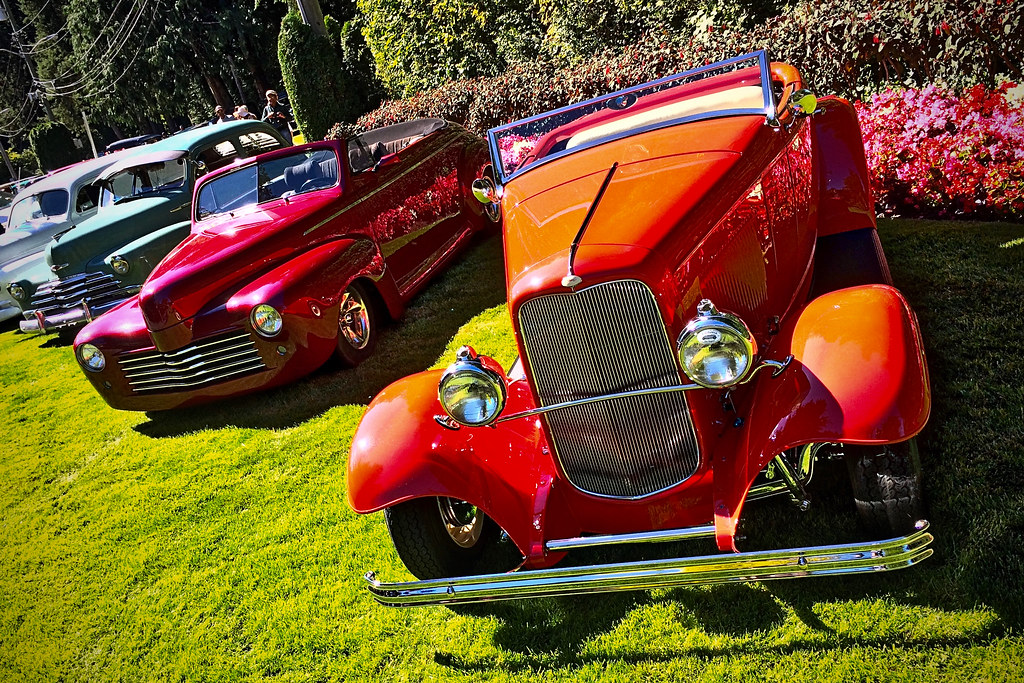 Antique Cars at Butchart Gardens