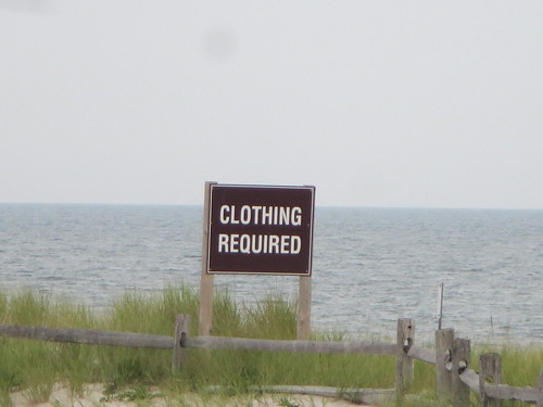 Clothing Required Nude Beach Banned Sign At The Fire Islan -2368