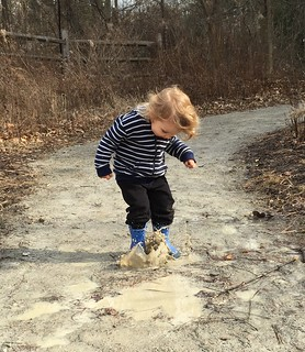 Mud puddle fun at the Cincinnati Nature Center. | by celticfeminist