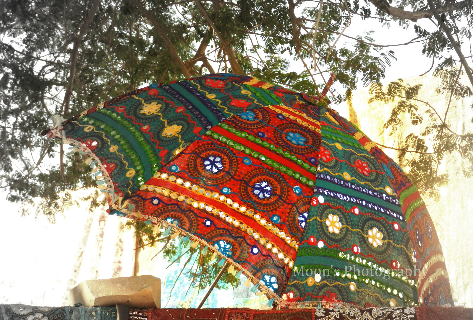 umbrella, rajasthan, handicrafts, embroidery