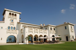 Club House at the Yas Links Golf Course in Abu Dhabi, United Arab Emirates | by www.traveljunction.com