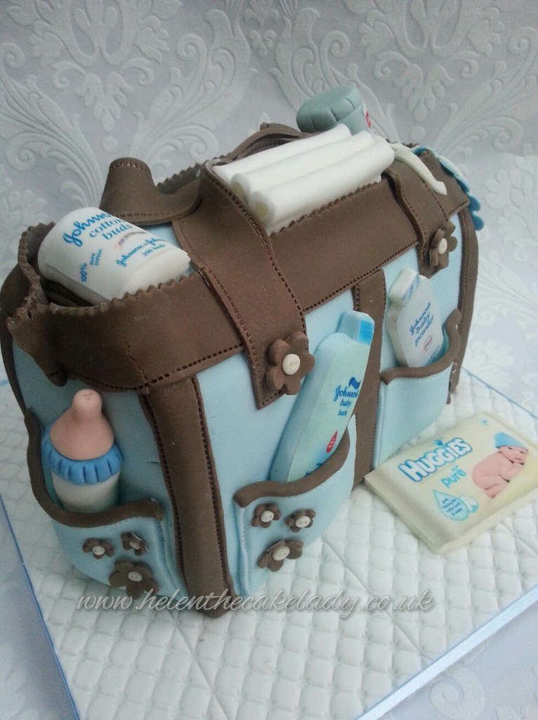 Baby shower changing bag cake | Helen | Flickr