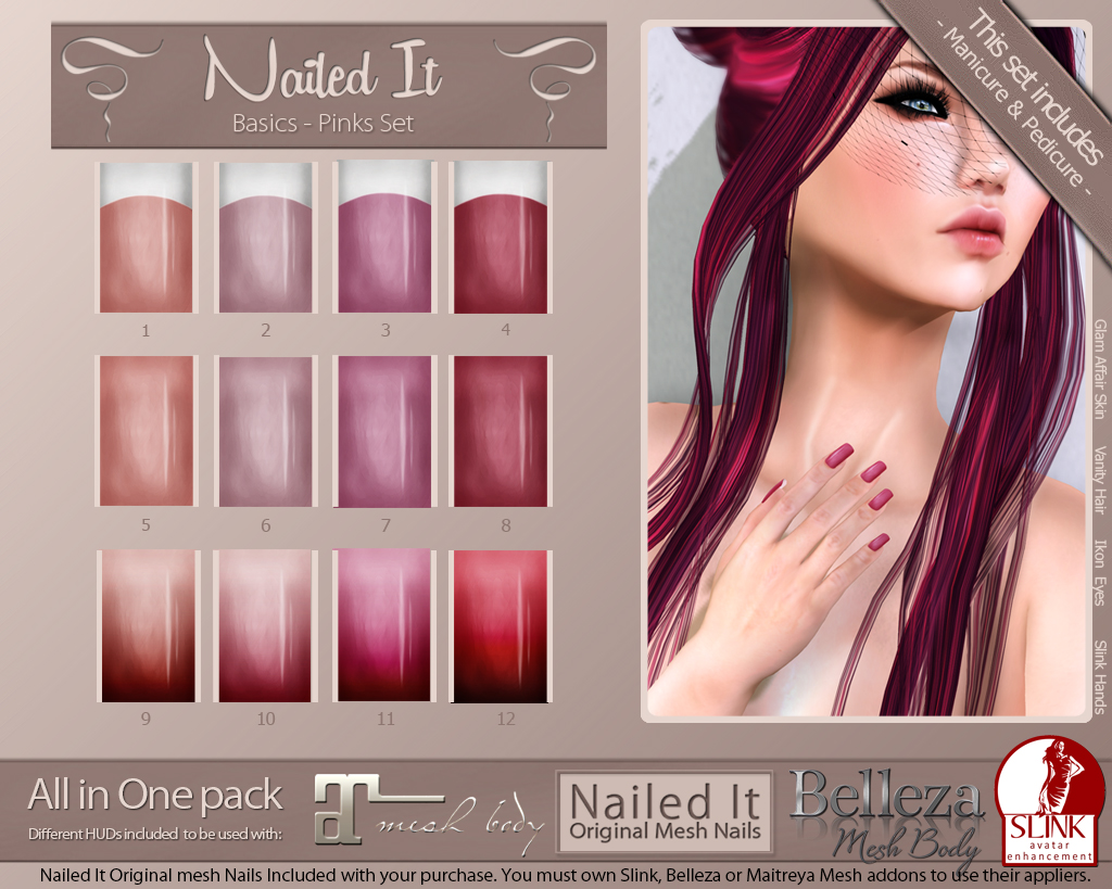 Nailed It Vendor - Basics Pinks Set