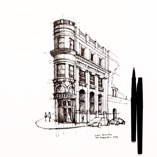 San francisco 39 s old transamerica building sketch archit for Online architecture drawing