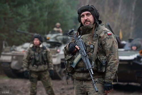 Polish Soldier with Beryl Assault Rifle | by Defence Images