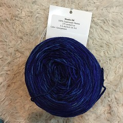 "CC1 for my Hudson-Bay-blanket-inspired #BlueSandCardigan: Neighborhood Fiber Co. Studio DK in ""Georgetown"". #yarn #knitting"