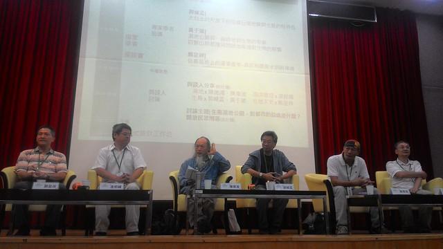 (左起)劉呈祥、凌邦暉、陳章波、郭城孟、陳德鴻、黃于玻的沙發座談。攝影:林倩如。