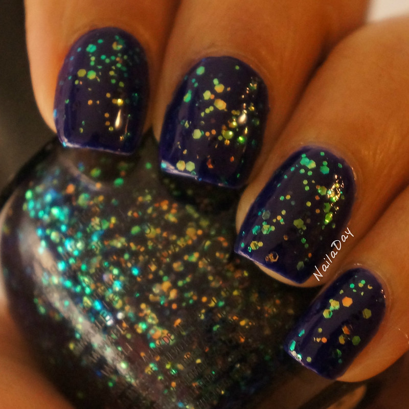 NailaDay: Barry M Indigo with Finger Paints Daubigny's Garden
