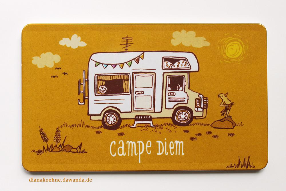 geschenk f r camper und wohnmobil freunde campe diem. Black Bedroom Furniture Sets. Home Design Ideas