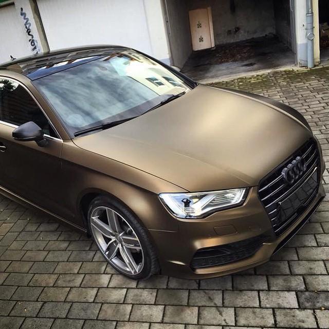 Audi A3 Limousine // Matt Bond Gold // www.wrapping-point ...