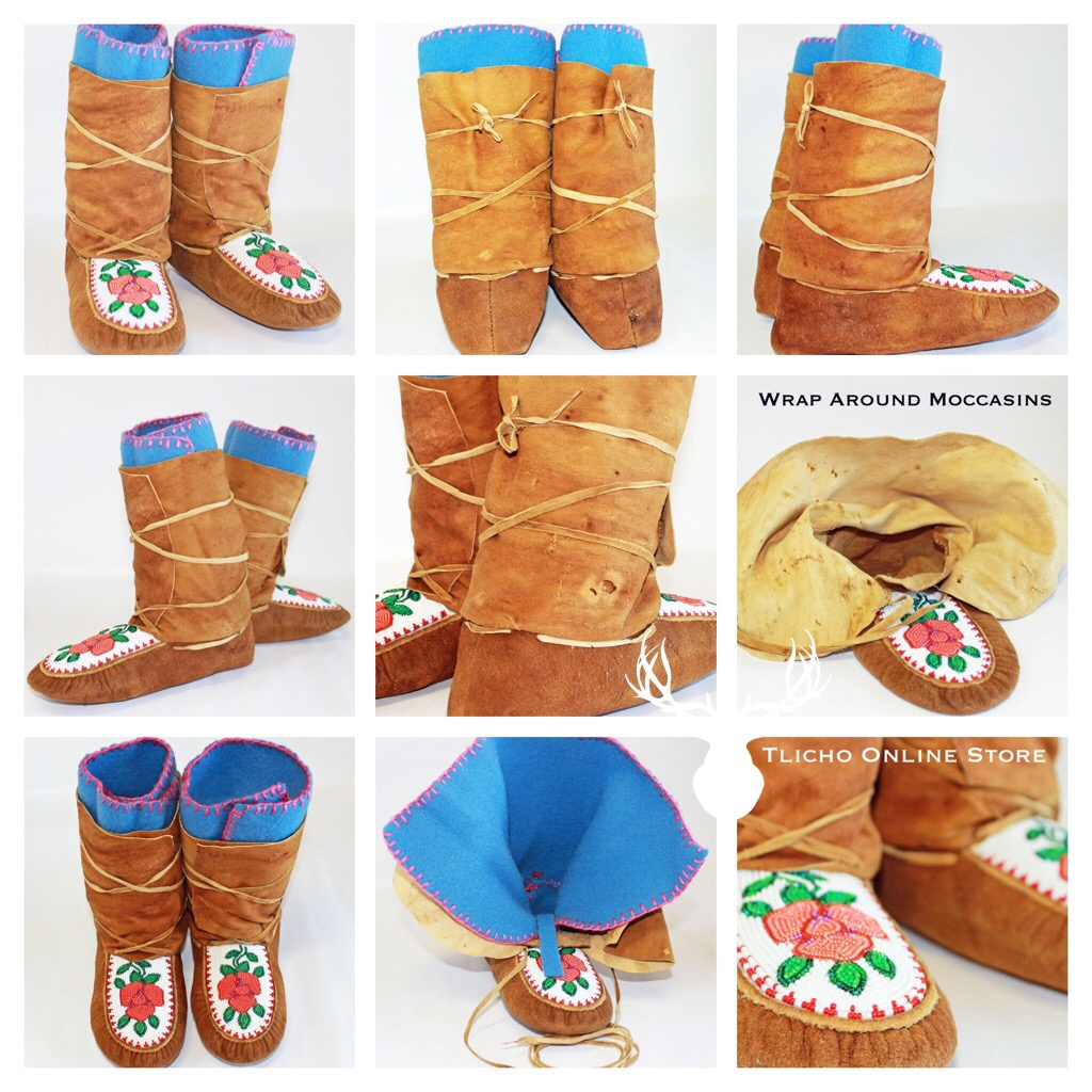 Moose Caribou Hide Wrap Around Moccasins Made By A T Flickr