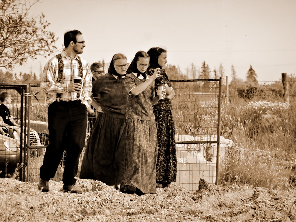 hutterite family enjoying the air show 1 hutterites ge flickr