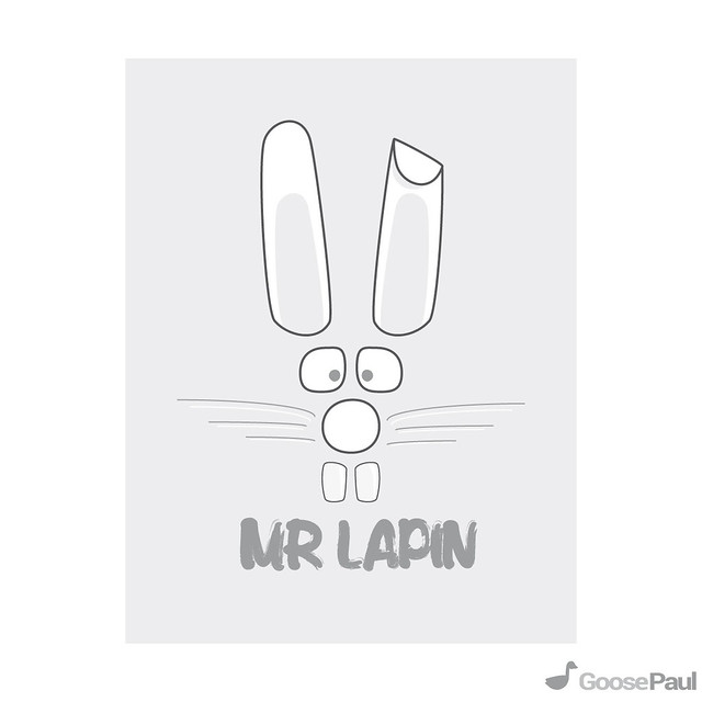 rabbit illustration design vector