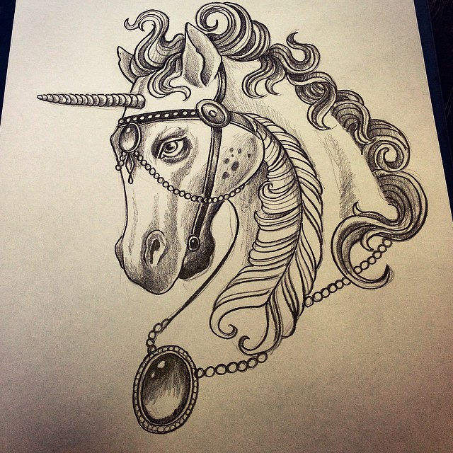 Neo Traditional Horse Tattoo