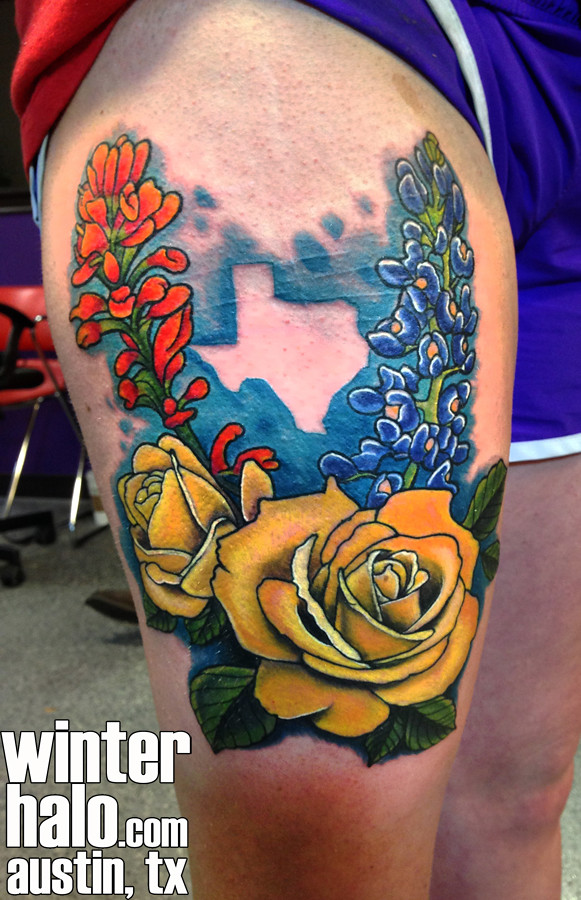 Realistic texas flowers illustration tattoo by christopher flickr winterhalotattoo realistic texas flowers illustration tattoo by christopher hedlund by winterhalotattoo mightylinksfo
