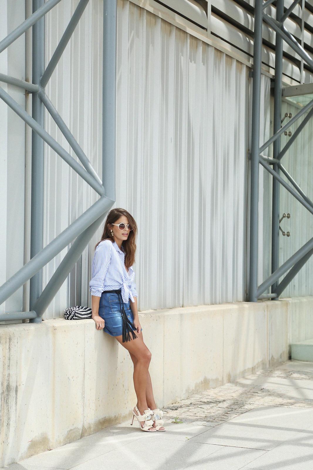 jessie chanes seams for a desire denim skirt stripes shirt-8