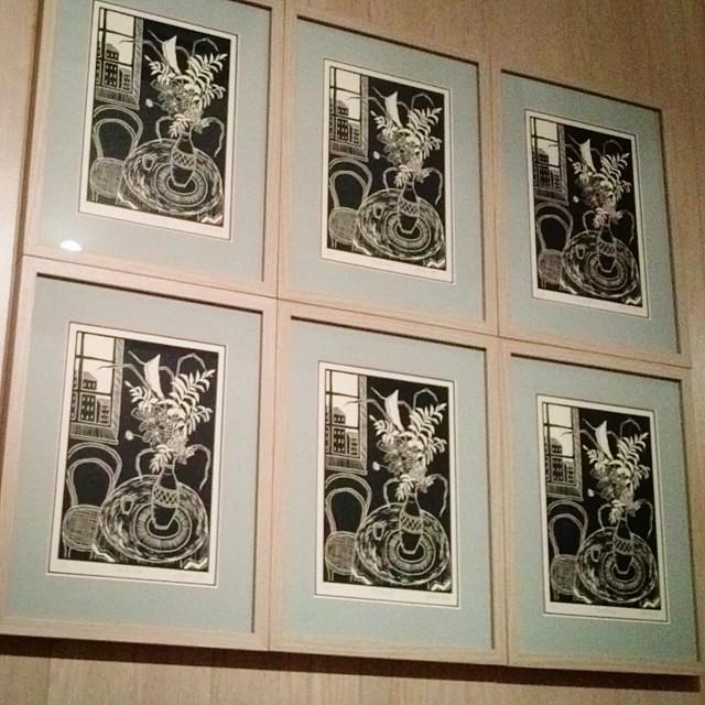 6 linocuts framed! #linoprint #linocut #linogravure #lino … | Flickr