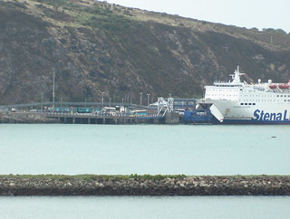 Train and ferry at Fishguard Harbour