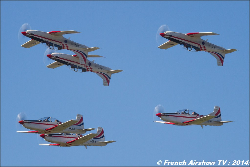 Wings of Storm , Krila Olujek , Pilatus PC-9M , Aviation militaire et la défense aérienne croates , AIR14 Payerne , suisse , weekend 1 , AIR14 airshow , meeting aerien 2014 , Airshow