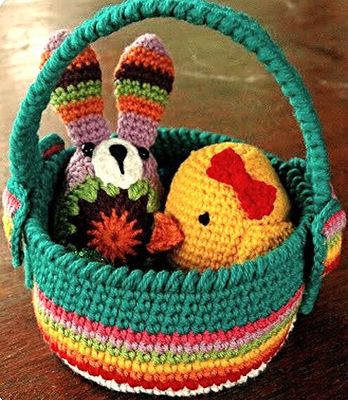 Easter Basket Free Crochet Easter Patterns At Karlas Maki Flickr