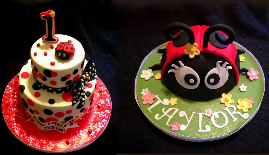 A Ladybug 1st Birthday Cake With Smash