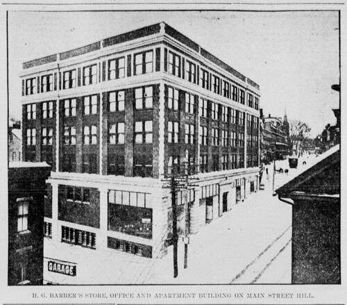 "H Street Apartments: ""H.G. Barber's Store, Office And Apartment Building On Mai"