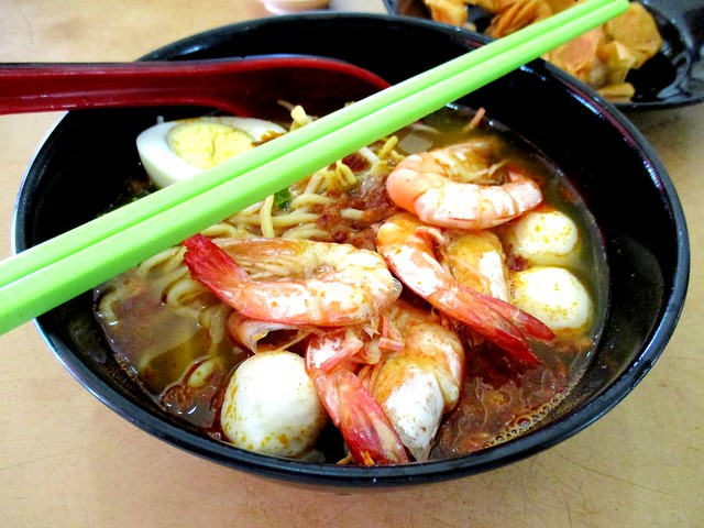 Bus Terminal Food Court Penang prawn noodles