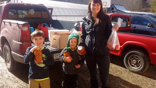 Plenty! volunteers deliver homemade canned soup and apples to neighbors with school-aged kids. When schools are closed due to weather, families relying on school lunch and breakfast can really use this extra help.