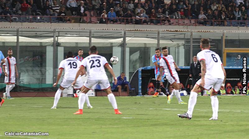 L'illusorio gol dell'1-0 firmato da Beppe Fornito