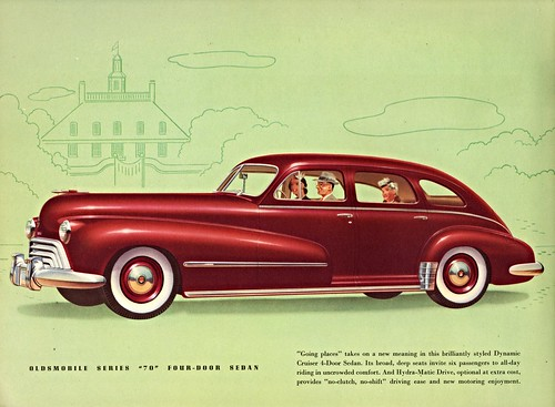 1948 oldsmobile series 70 four door sedan the two series