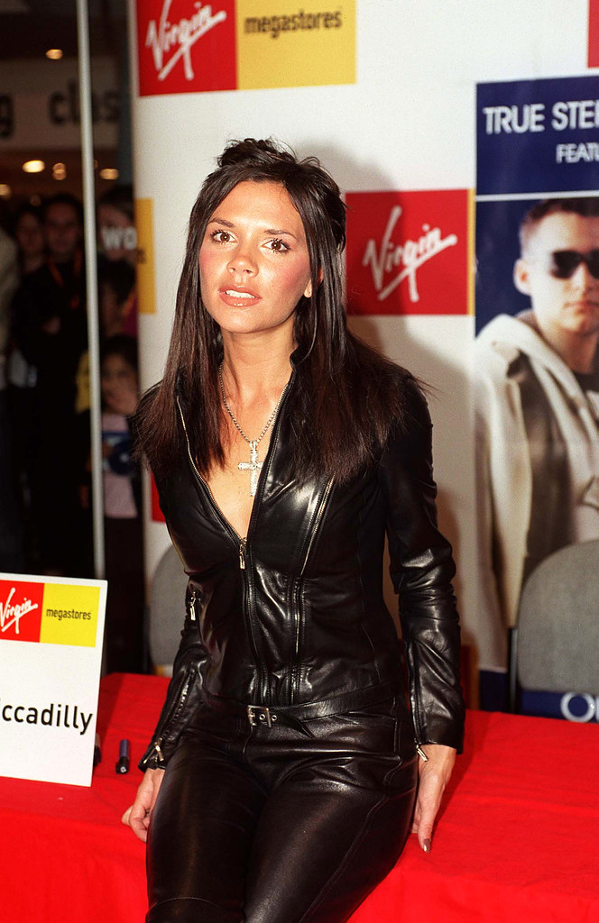 Victoria beckham in leather pants and jacket victoria beck