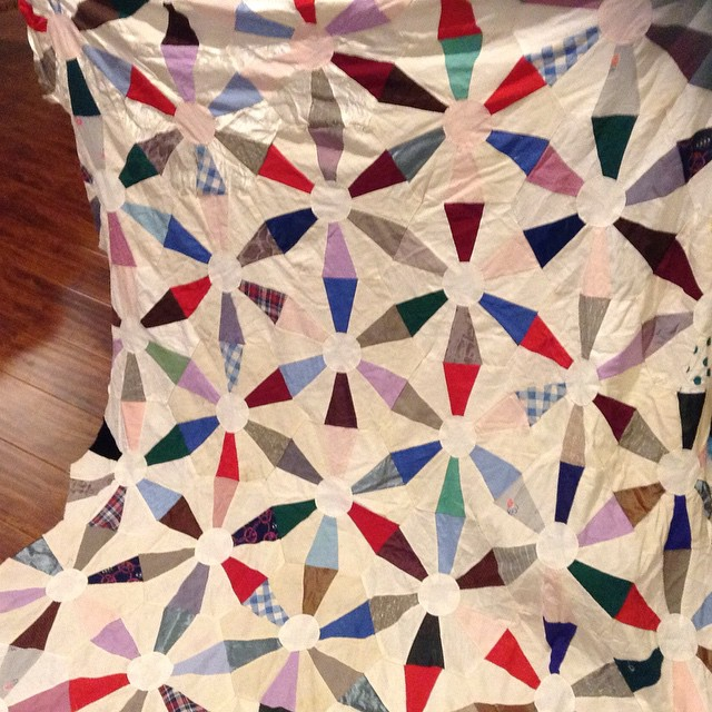 Vintage Quilt Top That I Want To Quilt On The Longarm Hex Flickr