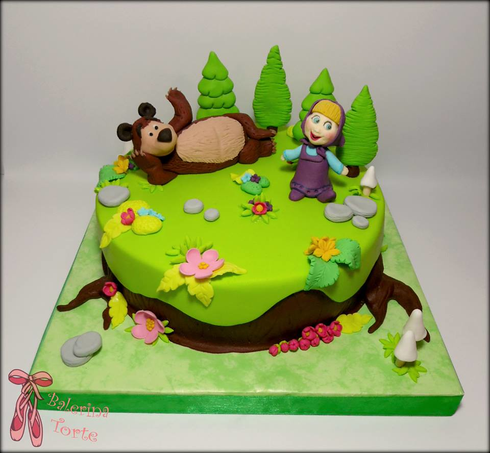 Masha and The Bear Cake Masa i medved torta by Balerina Flickr