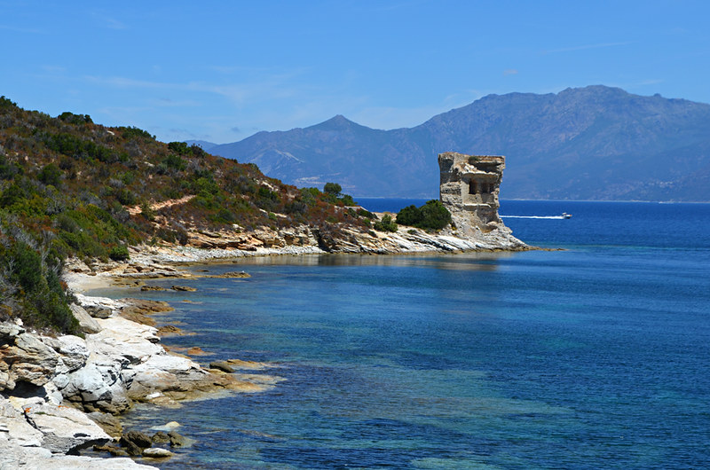 Mortella Tower, Coastal walk Saint Florent, Corsica