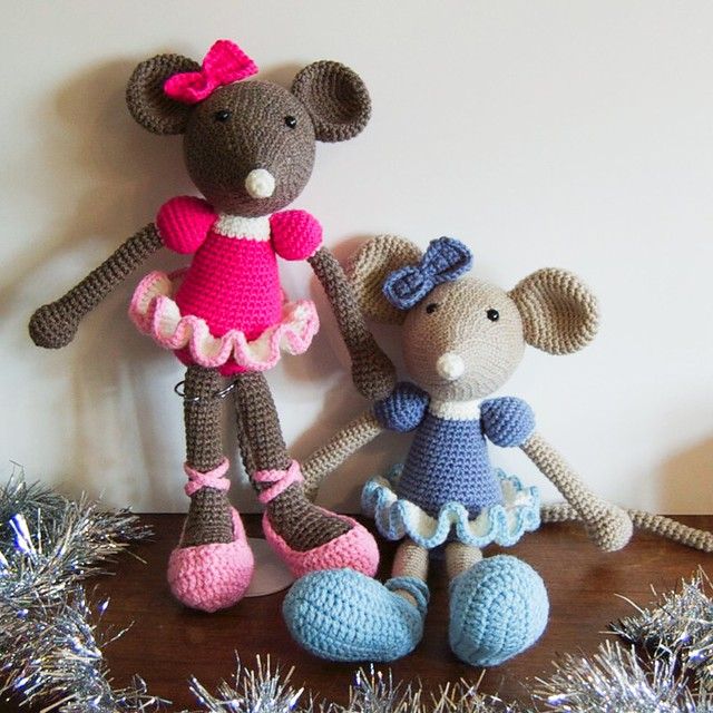 Ballerina Mice for my Nieces